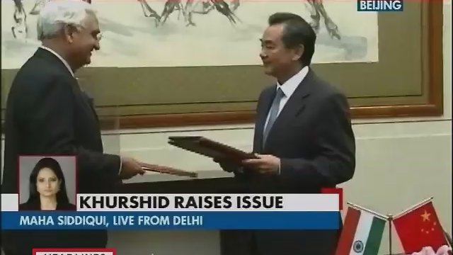 Khurshid raises PoK issue with Chinese Premier