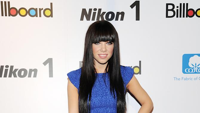 """""""Rising Star"""" honoree, singer Carly Rae Jepsen attends Billboard's """"Women in Music 2012"""" luncheon at Capitale on Friday Nov. 30, 2012 in New York. (Photo by Evan Agostini/Invision/AP)"""