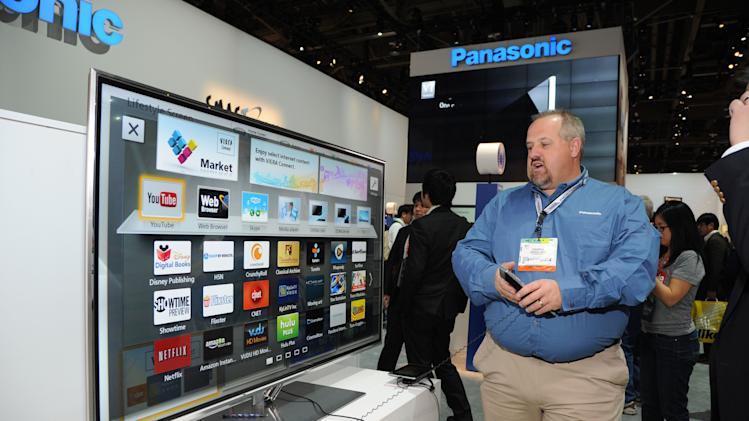 Panasonic Smart TV demonstration at The 2013 International CES, on Tuesday, January 8, 2013, Las Vegas, NV displayed in the Panasonic Booth (Photo by Al Powers/Invision for Panasonic/AP Images)