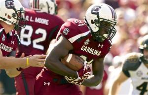 Shaw on target in No. 7 South Carolina's 31-10 win