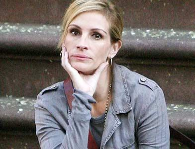 pst Julia Roberts On Set