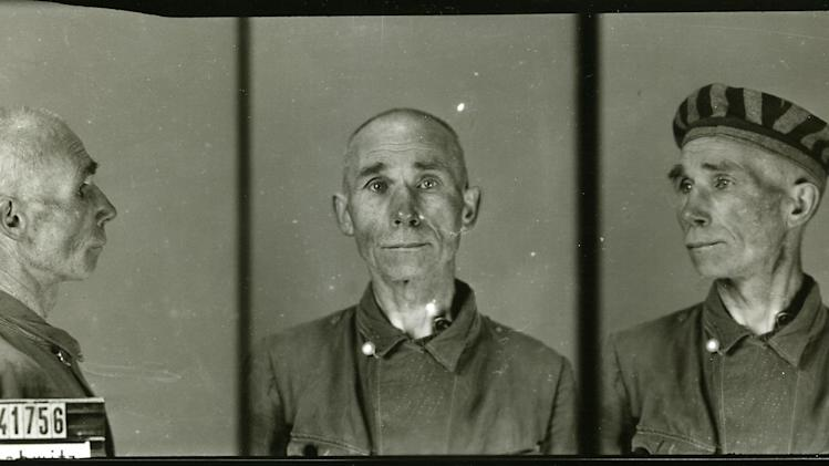 FILE - This photograph provided by the State Museum Auschwitz-Birkenau in Poland shows the identity photographs of an Auschwitz inmate, a part of the Nazi German effort to document their activities at the camp. Among those who took such pictures was Wilhelm Brasse, a Polish inmate who was put to work taking such photos because he was a professional photographer before the war. Brasse died Tuesday, Oct. 23, 2012 at the age of 95. (AP Photo/Auschwitz Museum, File)