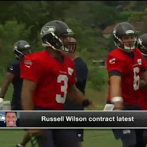 NFL Media's Steve Wyche: 'Seattle Seahawks quarterback Russell Wilson will make around 50 million guaranteed'