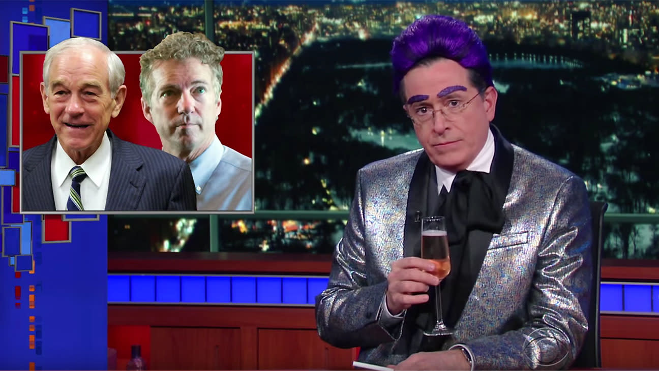 """Stephen Colbert Mocks Presidential Candidates Who Dropped Out After """"Bloodbath in Iowa's Cornucopia"""""""