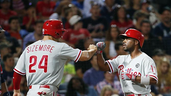 Hamels, Rollins power Phillies past Braves 2-1
