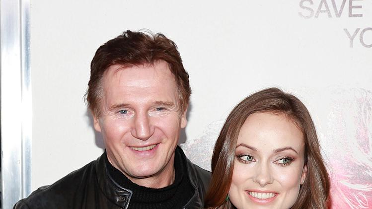 The Next Three Days 2010 NY Premiere Liam Neeson Olivia Wilde