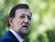 <p>Spain's Prime Minister Mariano Rajoy gives a press conference after meeting with King Juan Carlos at the Marivent royal residence on the island of Mallorca. Rajoy agreed to extend a monthly payment for the poorest jobseekers, just 24 hours before it was due to expire.</p>