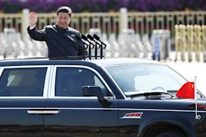 File photo of Chinese President Xi Jinping reviewing…