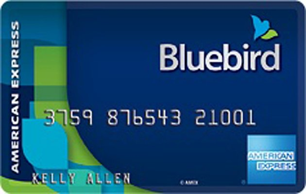 This undated image provided by American Express shows the Bluebird prepaid card that Wal-Mart Stores Inc. and American Express announced Monday, Oct. 8, 2012. The two companies said Monday that Bluebird, begun during a pilot program late last year and acts like a checking account but without the fees that have increasingly frustrated shoppers. It will have no minimum balance and no monthly, annual or overdraft fees. They say the only fees that will be associated with the card will be transparent and within the user&#39;s control, such as out of network. (AP Photo/American Express)