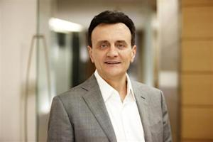 CEO of AstraZeneca, Pascal Soriot, poses for a photograph in this undated picture provided by AstraZeneca in London