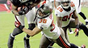 Bucs place S Grimm, OT Trueblood on I.R