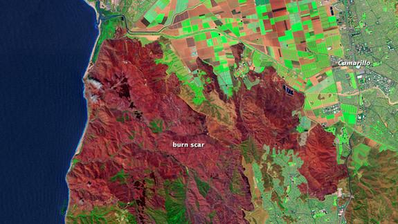 Satellite Spies California Fire's Scars