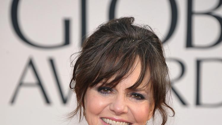 Actress Sally Field arrives at the 70th Annual Golden Globe Awards at the Beverly Hilton Hotel on Sunday Jan. 13, 2013, in Beverly Hills, Calif. (Photo by John Shearer/Invision/AP)