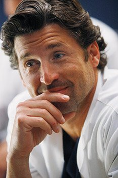 Patrick Dempsey flashes that McDreamy grin of his (Vivian Zink/ABC)