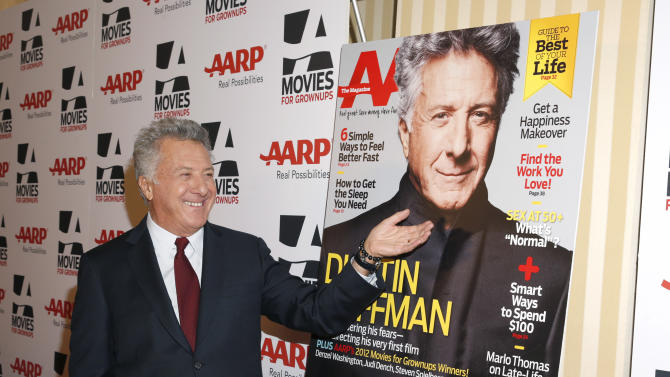 Dustin Hoffman attends AARP The Magazine's 12th Annual Movies for Grownups Awards at The Peninsula Hotel on February 12, 2013 in Beverly Hills, California. (Photo by Todd Williamson/Invision for AARP Magazine/AP Images)