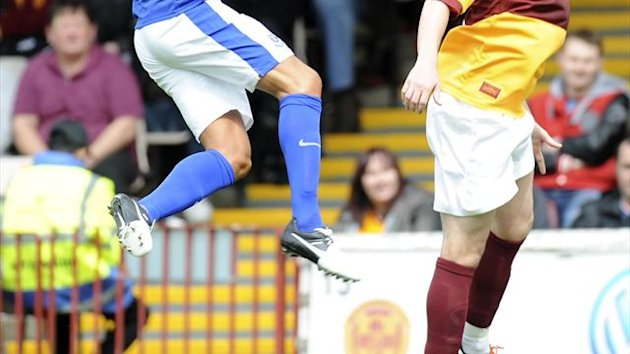 James McFadden, right, returned to Motherwell on Monday night
