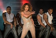 Singer-actress Jennifer Lopez performs at the Pop Music Festival in Brazil in June. Lopez has filed a $20 million lawsuit against a former driver whom she claims threatened to spill her secrets if she did not pay him $2.8 million, court records showed