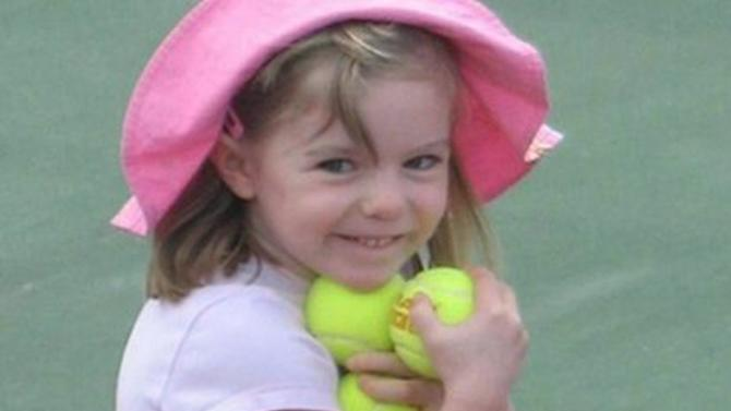 FILE - This undated file photo made available by the London Metropolitan Police, shows missing British girl Madeleine McCann before she went missing from a Portuguese holiday complex on Thursday, May 3, 2007. Portuguese prosecutors have ordered the reopening of the police investigation into the disappearance of British girl Madeleine McCann, after a review of evidence found new leads in the case, Portugal's public broadcaster and British police said Thursday Oct. 24, 2013. (AP Photo/London Metropolitan Police)