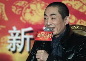 """Chinese director Zhang Yimou answers a question during a news conference for his new movie """"the 13 Women of Nanjing"""" in Beijing"""