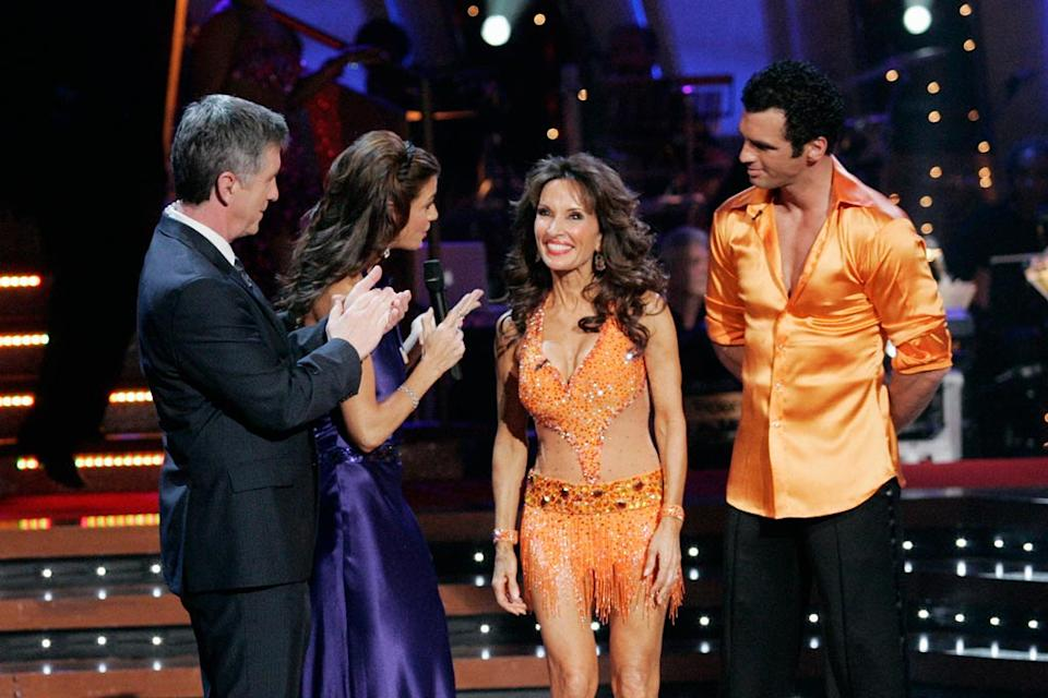 Susan Lucci and Tony Dovolani are the eighth couple to be eliminated from Dancing with the Stars.