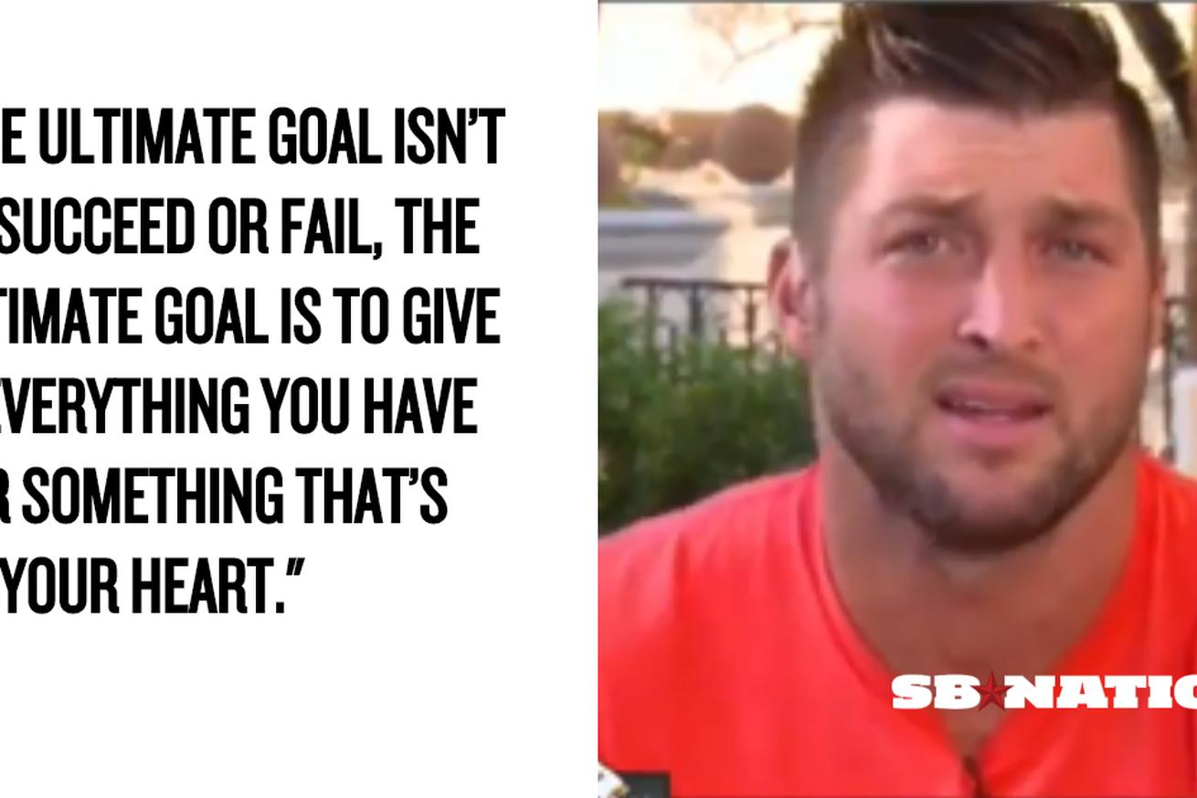 Tim Tebow answered Stephen A. Smith's dumb question with a riveting inspirational speech