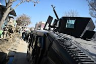 Afghan special forces prepare to move to the scene of attacks in Kabul. Explosions and gunfire rocked the Afghan capital Kabul Sunday as suicide bombers struck across Afghanistan in coordinated attacks claimed by Taliban insurgents as the start of a spring offensive