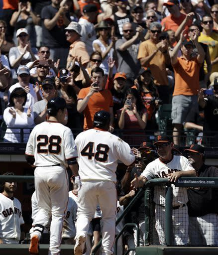 Posey homers to back Zito, Giants beat Padres 5-0