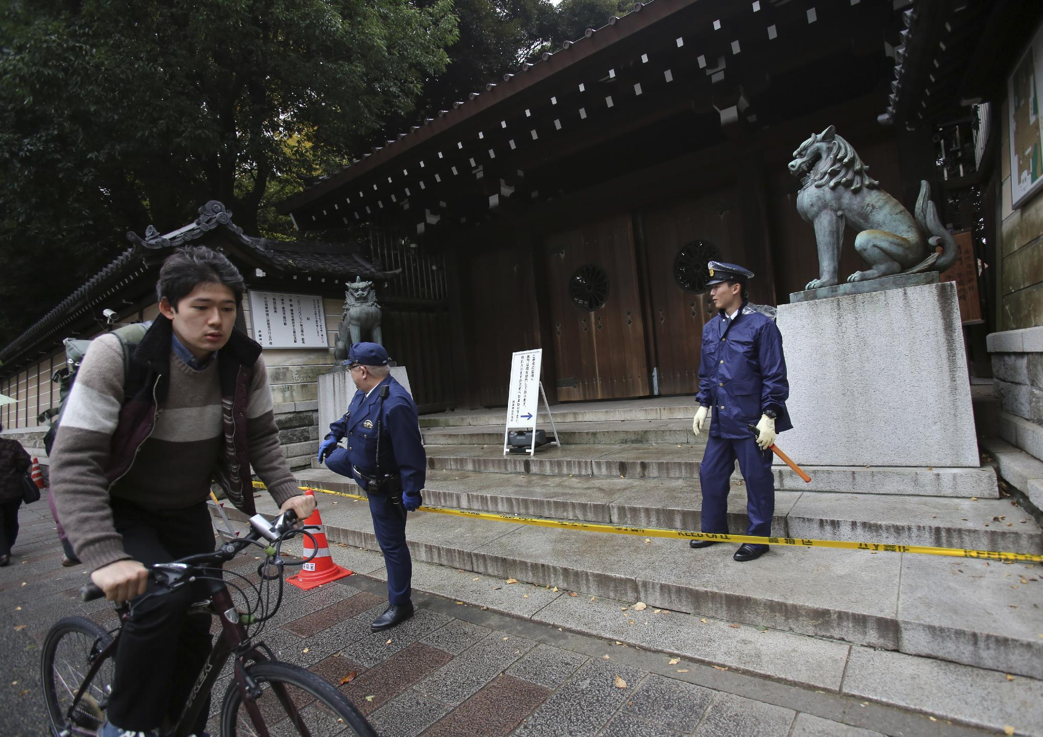 Blast at Japan's controversial war shrine injures no one