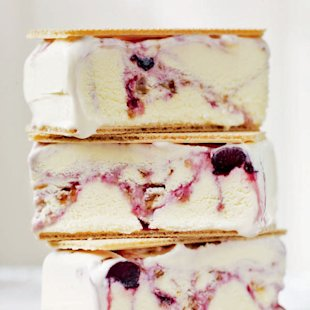 Cherry ripple ice cream bars