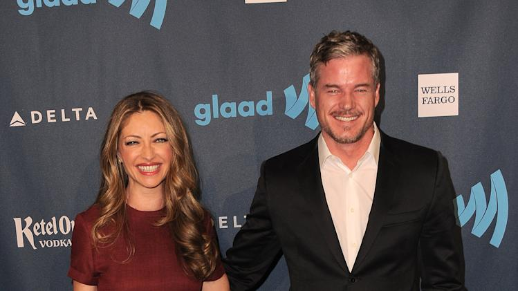 Rebecca Gayheart, left, and Eric Dane arrive at the 24th Annual GLAAD Media Awards at the JW Marriott on Saturday, April 20, 2013 in Los Angeles. (Photo by Jordan Strauss/Invision/AP)