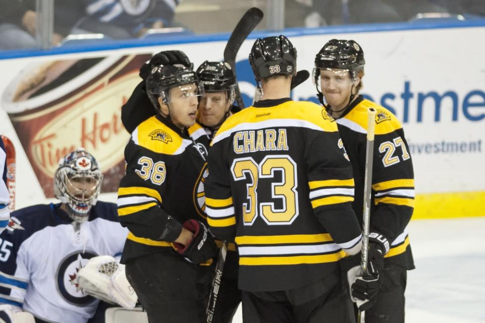 Bruins beat Jets 5-0 in preseason finale