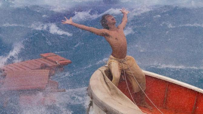 "This film image released by 20th Century Fox shows Suraj Sharma as Pi Patel in a scene from ""Life of Pi."" (AP Photo/20th Century Fox, Peter Sorel)"