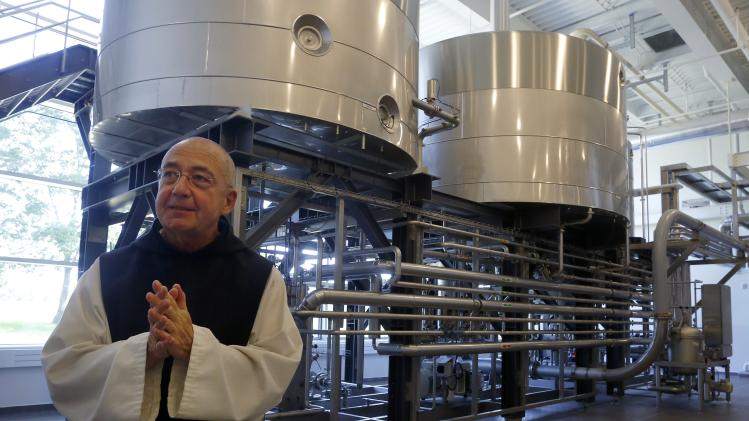 Father Isaac Keeley talks about the new facility where he and his fellow Trappist Monks brew Trappist Ale at Saint Joseph's Abbey in Spencer