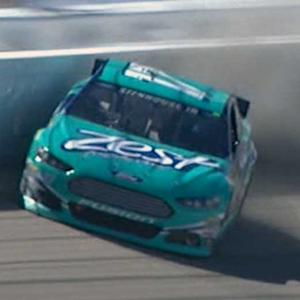 Stenhouse suffers damage after practice slide