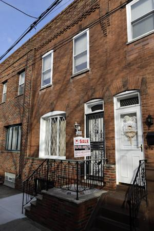 "This photo shows the South Philadelphia home featured in the 1979 movie ""Rocky II,"", Friday, March 15, 2013, in Philadelphia. Want to live like Rocky Balboa? The Italian Stallion's house is on the market. The home in South Philadelphia was featured in the 1979 movie ""Rocky II."" In the sequel to the Oscar-winning smash, the fictional boxer played by Sylvester Stallone buys the house after he loses a bout to Apollo Creed but gains fame.  (AP Photo/Matt Slocum)"