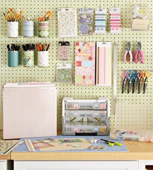 Corral Office Supplies with a Peg Board