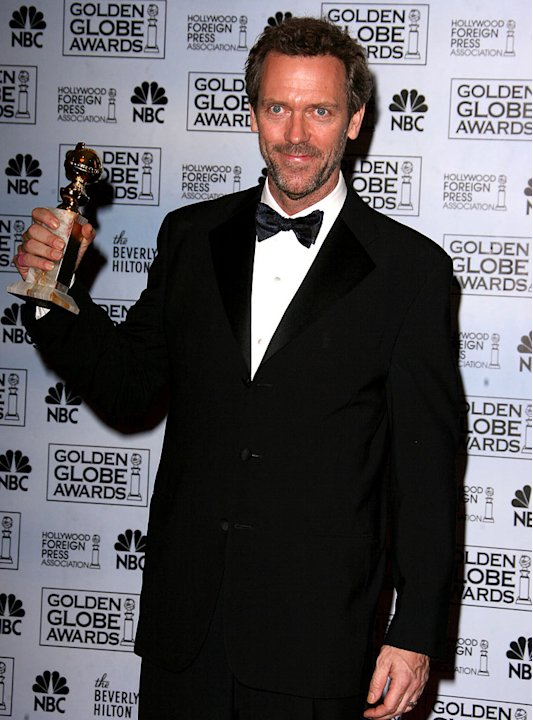Hugh Laurie, winner Best Performance by an Actor In A Television Series - Drama for &quot;House,&quot; at the 64th annual Golden Globe Awards. 