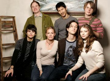 (back row) Novelist Scott Heim, director Gregg Araki and Brady Corbet (front row) Jeffrey Licon, Elisabeth Shue, Joseph Gordon-Levitt and Michelle Trachtenberg Mysterious Skin Portraits - 1/28/2005 Sundance Film Festival