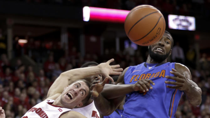 No. 20 Wisconsin holds off No. 11 Florida 59-53