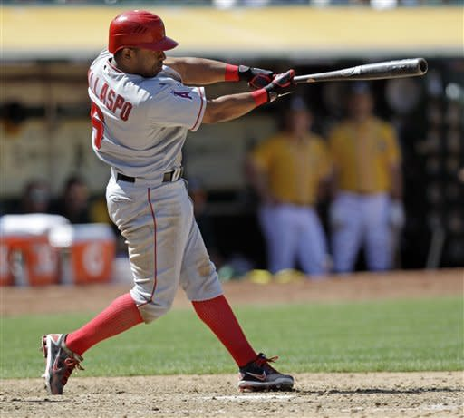 Callaspo's two-run double in 11th lifts Angels