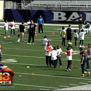 City Students Stay Fit, Have Fun With Ravens