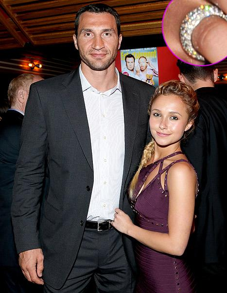 Hayden Panettiere Flashes Diamond Ring, Makes Out With Fiance Wladimir Klitschko
