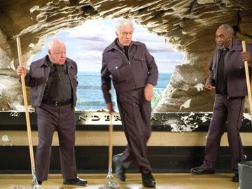 Mickey Rooney , Dick Van Dyke and Bill Cobbs in 20th Century Fox's Night at the Museum