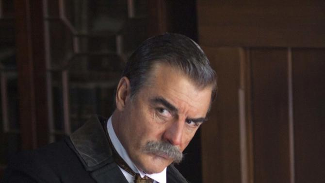 "This image released by Encore shows actor Chris Noth portraying J.P. Morgan in a scene from the Encore cable channel 12-hour miniseries, ""Titanic: Blood and Steel.""   The series will premiere on six consecutive nights, with two episodes airing back to back, on Encore beginning Monday at 8 p.m. EDT. (AP Photo/Encore)"