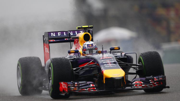 Red Bull Formula One driver Ricciardo of Australia drives during the third practice session of the Chinese F1 Grand Prix in Shanghai