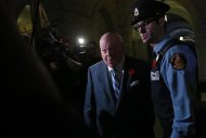 Senator Mike Duffy arrives at the Senate on Parliament Hill in Ottawa October 28, 2013. REUTERS/Chris Wattie