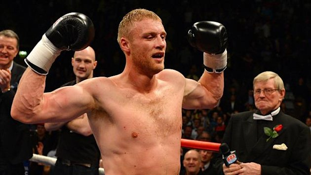 Andrew 'Freddie' Flintoff wins his first professional boxing fight