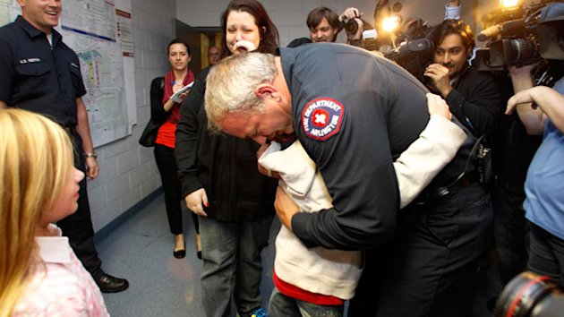 Abandoned Boy Reunited with Fireman Who Found Him (ABC News)
