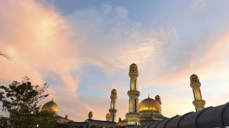 General view of Jame' 'Asr Hassanil Bolkiah mosque in Bandar Seri Begawan