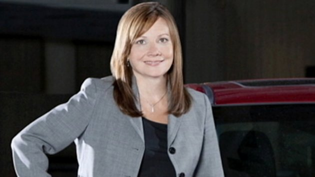 Barra is the first women ever to run one of Detroit's big three car corporations.